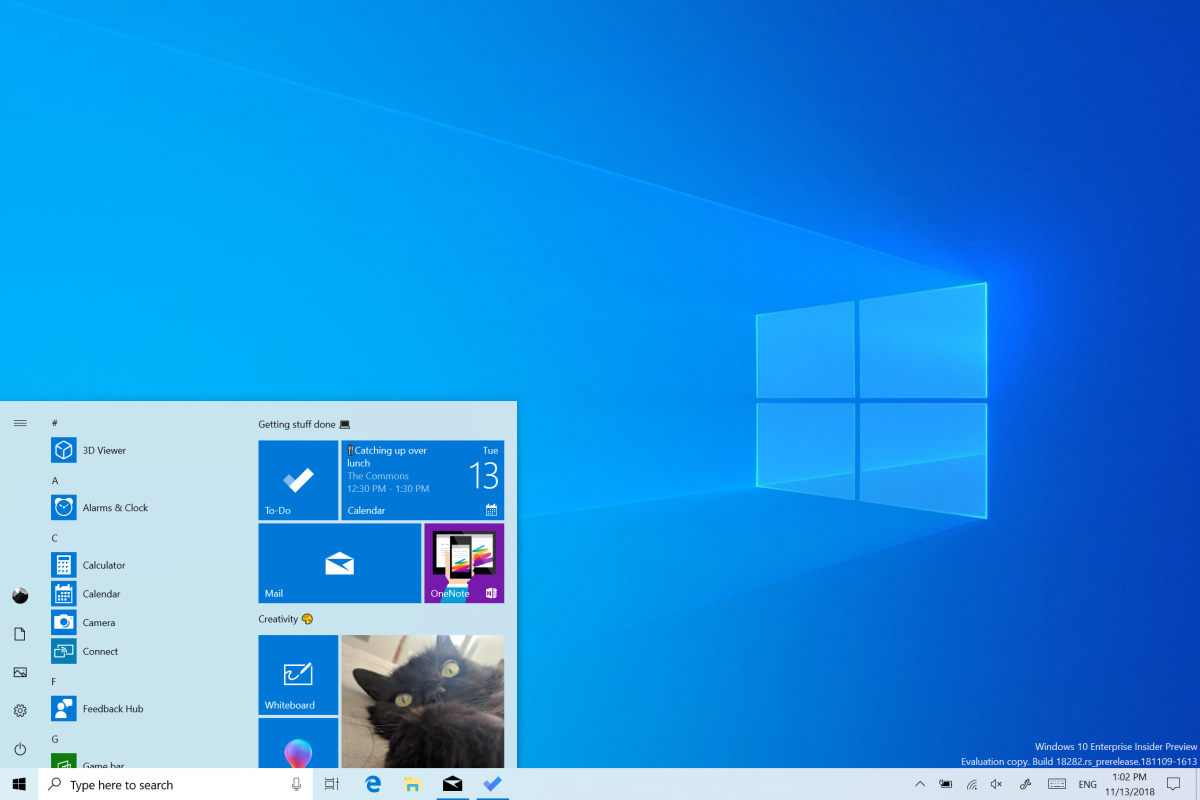 Windows 10 - Windows Insiders 18282 19H1