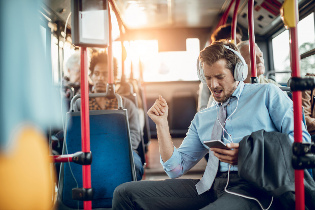 music on bus