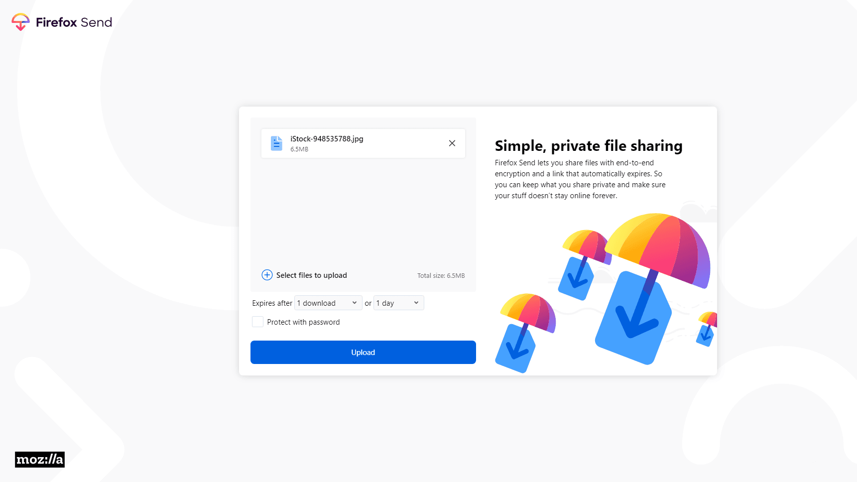 Firefox Send is een gratis en privacy-gerichte vervanger voor WeTransfer