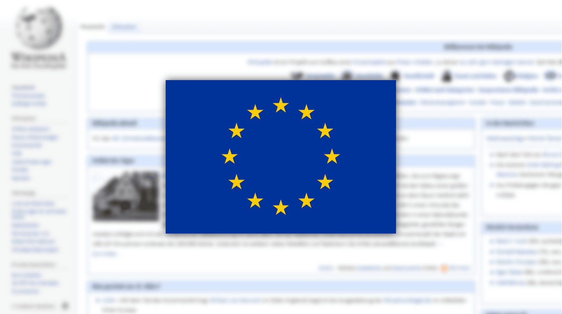 Wikipedia: Europese websites op zwart vanwege copyrightwetgeving