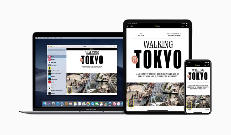Apple news+ devices