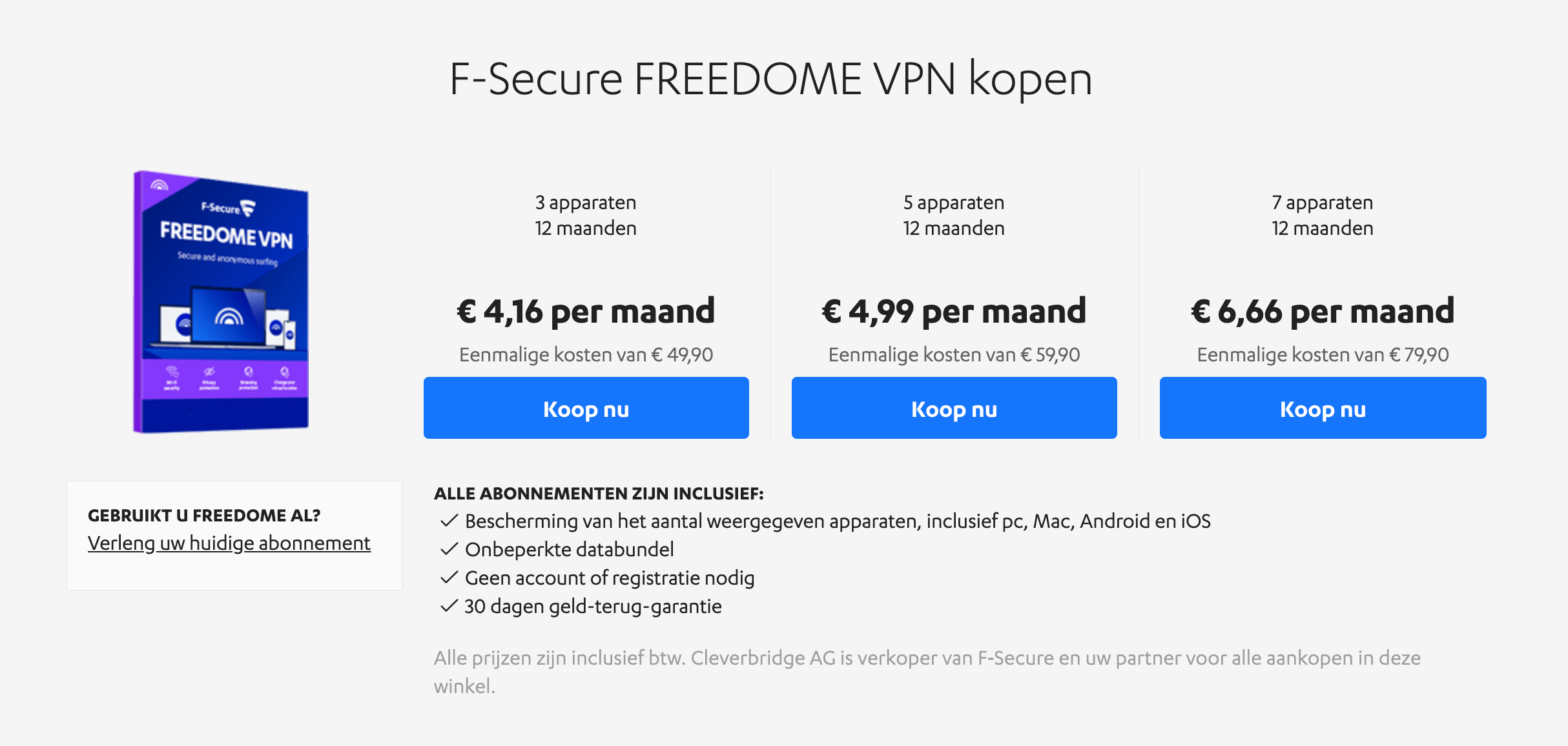 F-Secure Freedome VPN