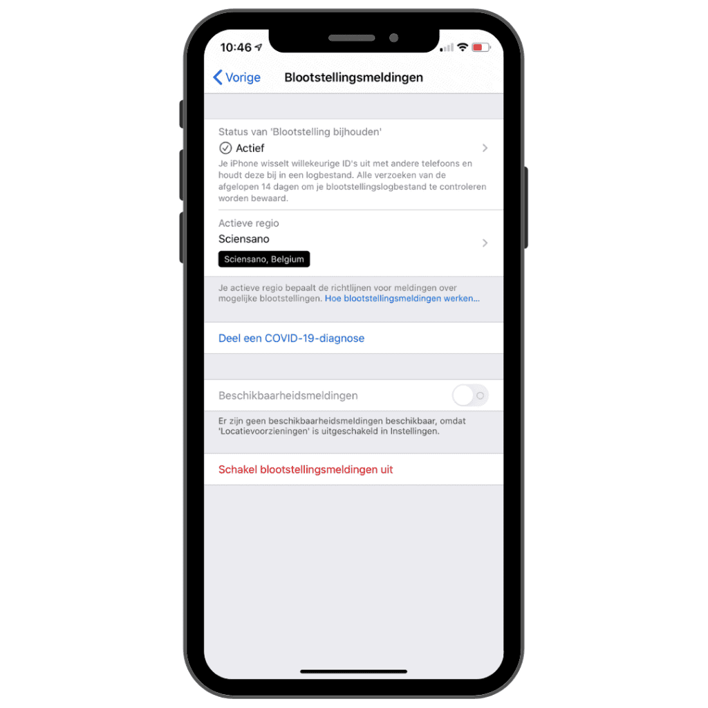 iOS 13.7 Apple traceerfunctie