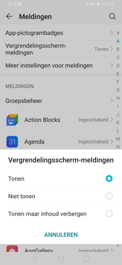 Personaliseren Android