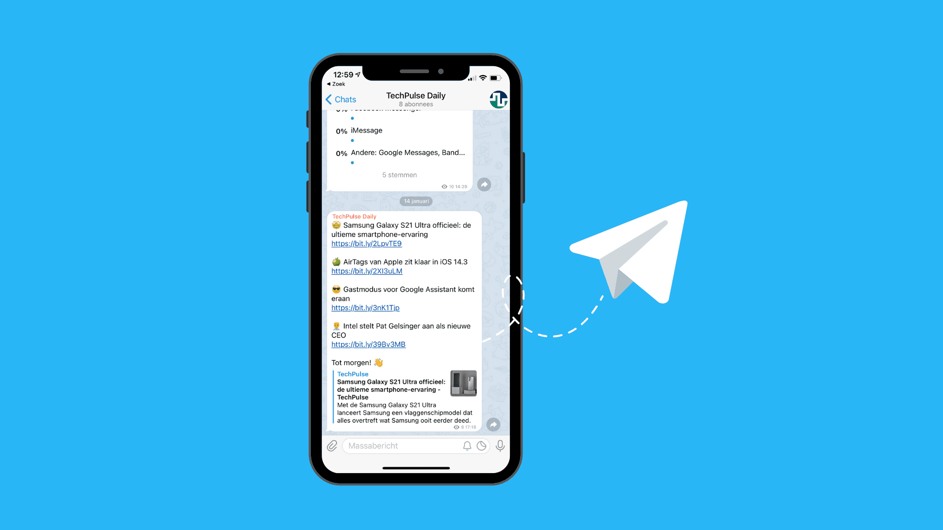 TechPulse op Telegram: abonneer je op ons tech-channel
