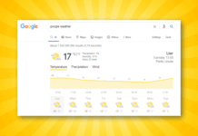 Google Weer Weather widget