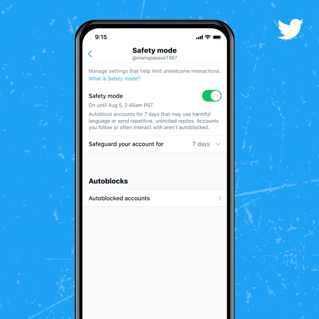 Modalità di sicurezza di Twitter
