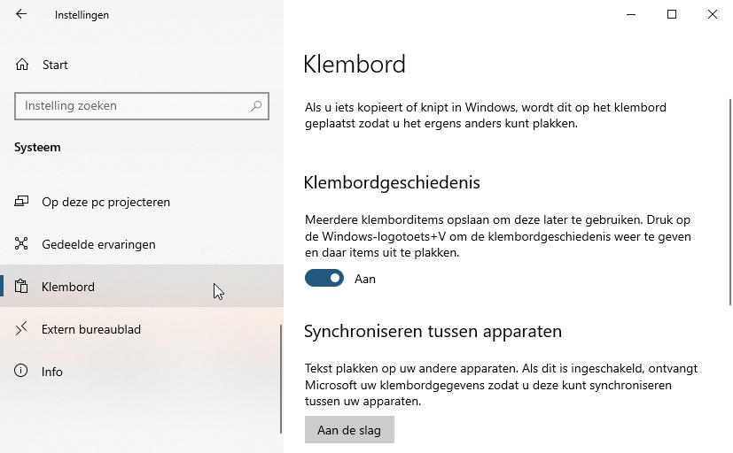 Clipboard Microsoft Windows 10